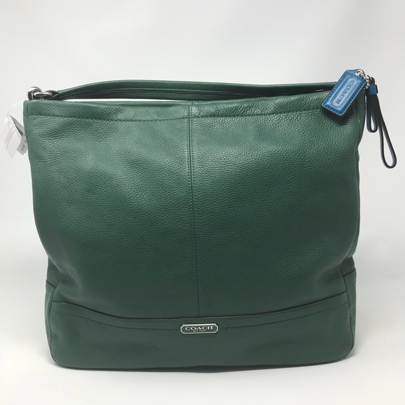 Coach Park Ivy green leather Hobo crossbody bag a009c101e28a2
